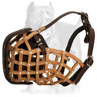 Similar Redline K9 Leather Basket Dog Muzzle-Police Model