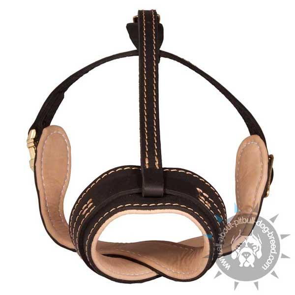 Lightweight Loop-Like Leather Pitbull Muzzle Soft Padded