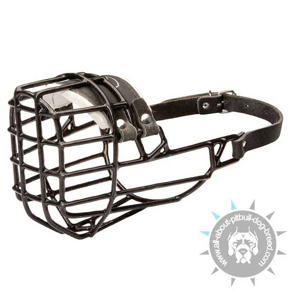 Non-restrictive wire cage dog muzzle