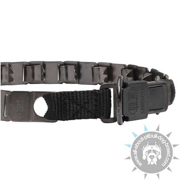 Pitbull Neck Tech Collar with Quick Release Buckle and D-ring