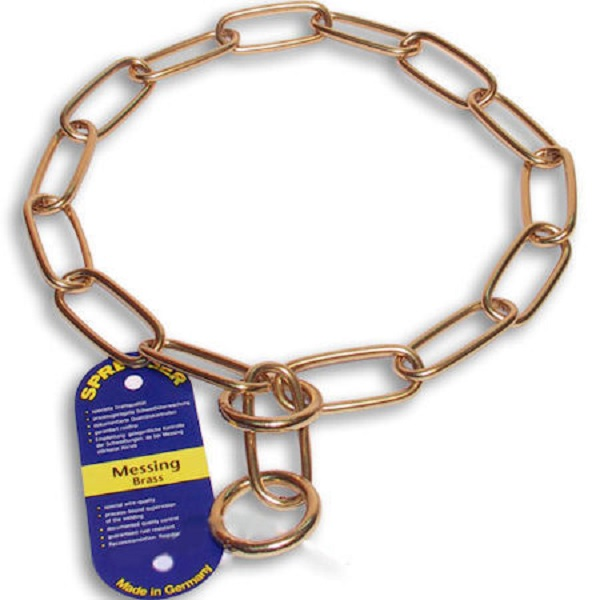 Fur Saving Choke Chain of Non-corrosive Brass