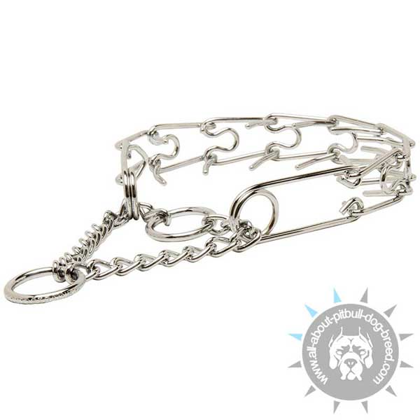 Strong Chrome Plated Pinch Collar for Obedience Training