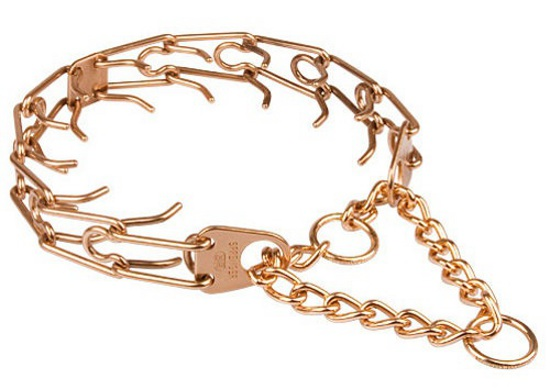Pitbull Curogan Prong Collar with Central Plate