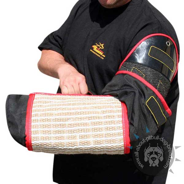 Agitation training bite dog sleeve for hand protection