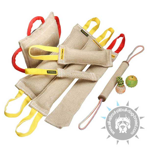 Set of Jute Bite Tugs for Pitbull Training