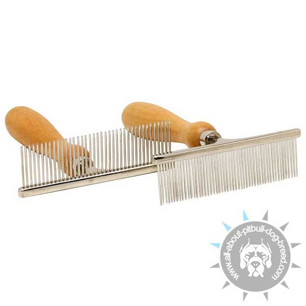 Metal Pitbull Brush for Daily Grooming