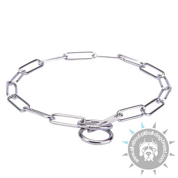 Pitbull Chrome Plated Fur Saving Collar