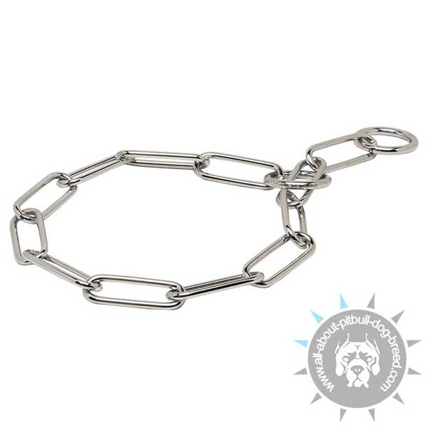 Training Fur Saver Collar of Chrome Plated Steel