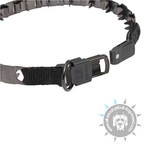 Pitbull Neck Tech Collar with Secure Buckle