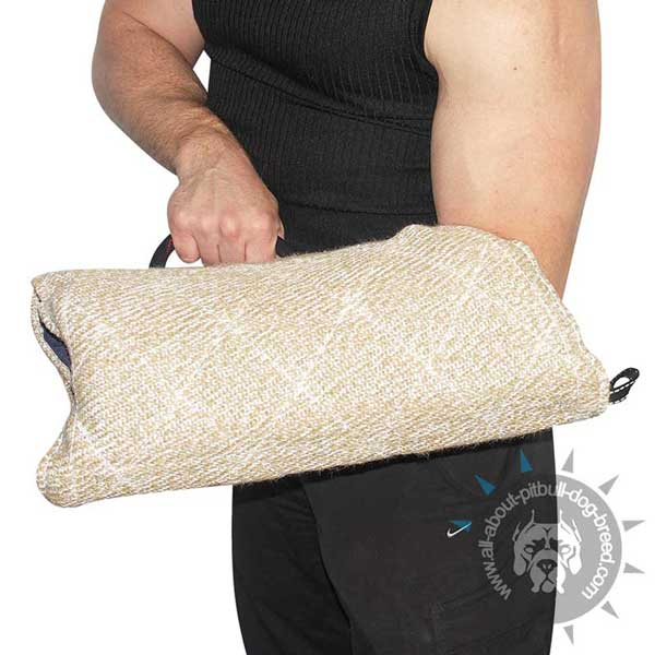 Tear-resistant bite dog sleeve made of Jute