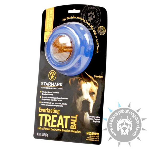 Pitbull Rubber Treat Holder