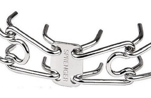 Chrome Plated HS Pinch Collar with Smooth Links
