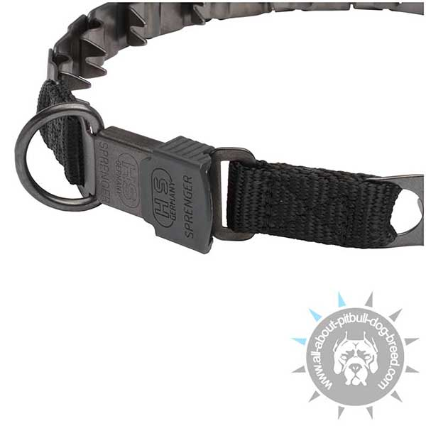 Pitbull Neck Tech Collar with Click Lock and D-ring