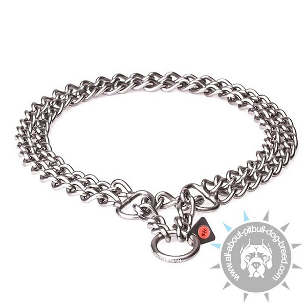 Pitbull HS Collar with 2Rows of Chains