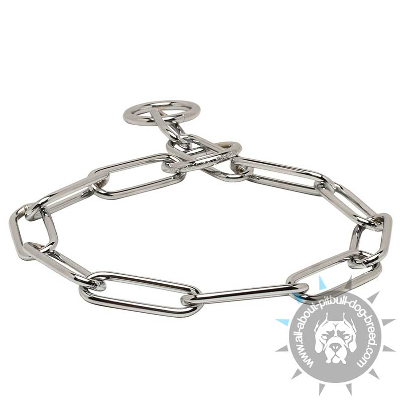 excellent fur saver collar of chrome plated steel  6