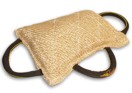 Order Now Jute Bite Pillow - 3 handle bite tug for puppies