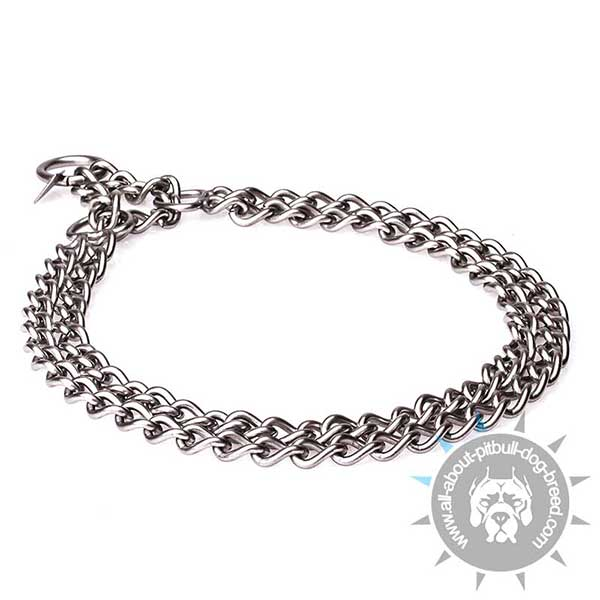 Obedience Training  Double Chain Collar